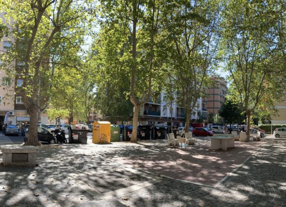 Spazio urbano: via dei Levii angolo via del Quadraretto – area di intervento